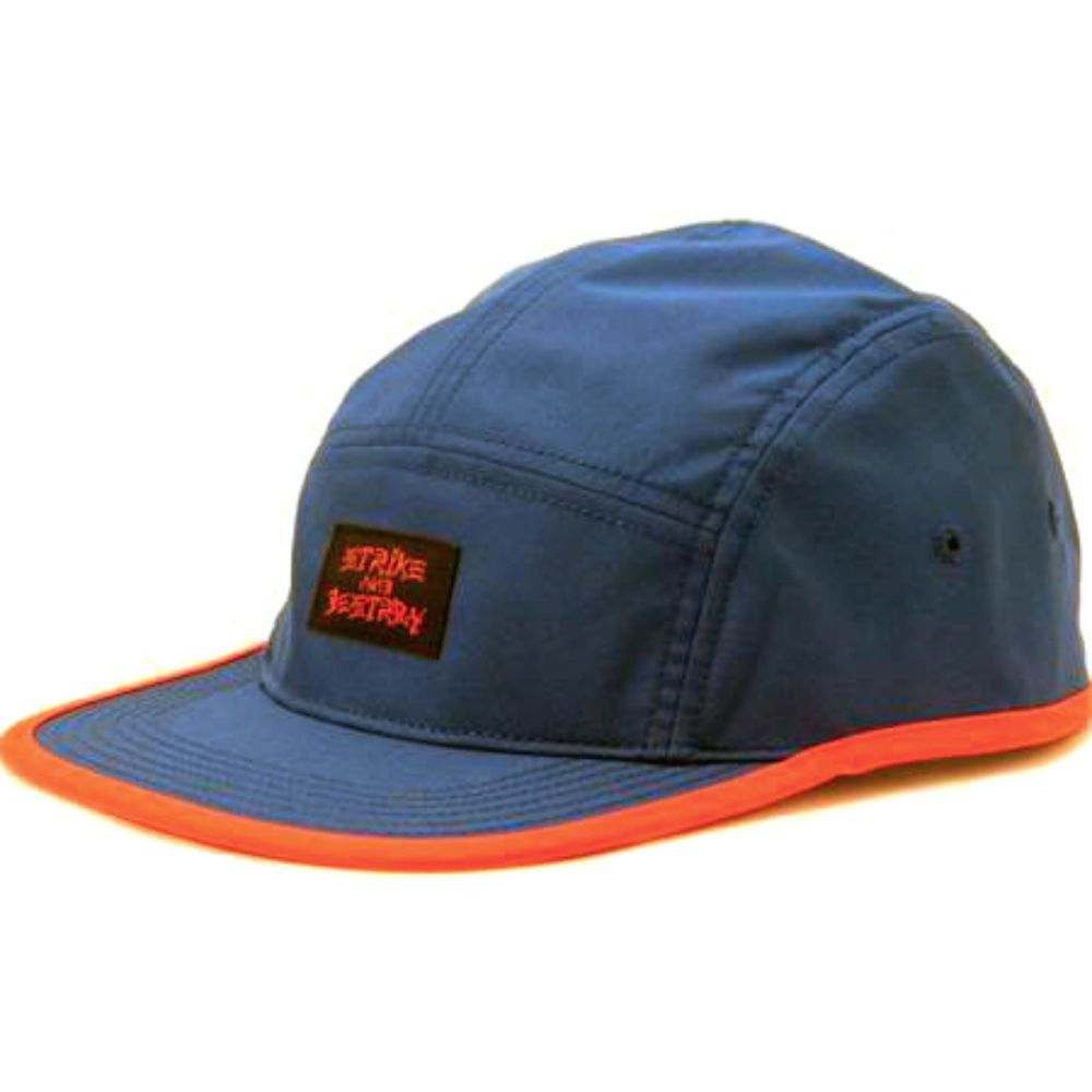 Nike SB Strike and Destroy 5 Panel Running Hat Was  32 611809 455 Blue  Orange 35ad31f9025