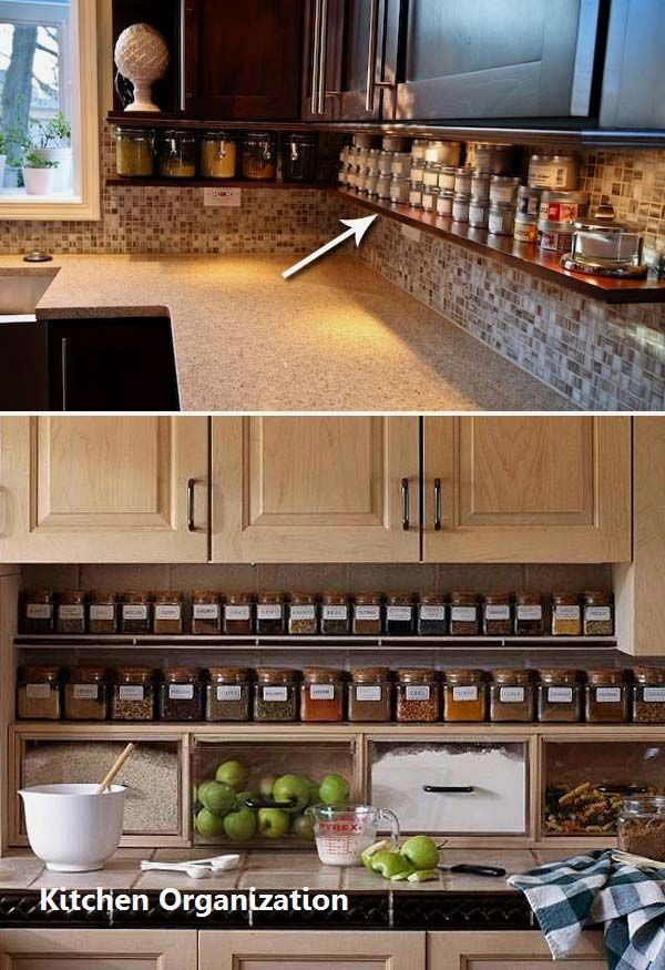15 Creative Diy Storage And Organization Ideas For Small Kitchens 1 Clutter Free Kitchen Clutter Free Kitchen Countertops Kitchen Remodel Small