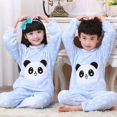 96f5f17752 2017 Winter Children Fleece Pajamas Warm Flannel Sleepwear Girls Loungewear  Coral Fleece Kids pijamas Homewear Winter Pyjama