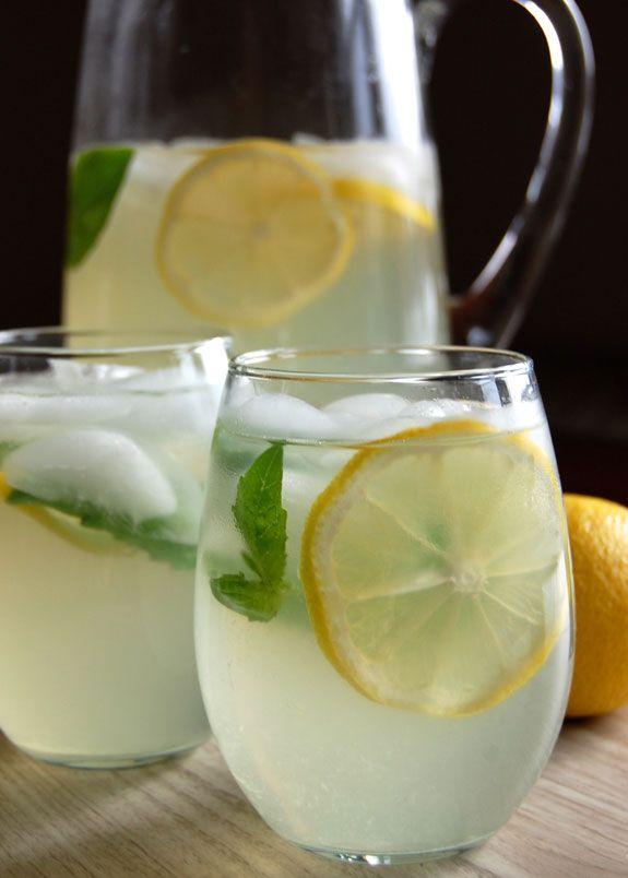 Lemon, Ginger and Basil Iced Tea for Detox