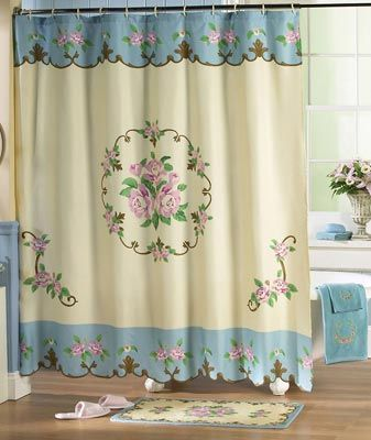 Portrait Of Classic And Lovable Victorian Shower Curtains