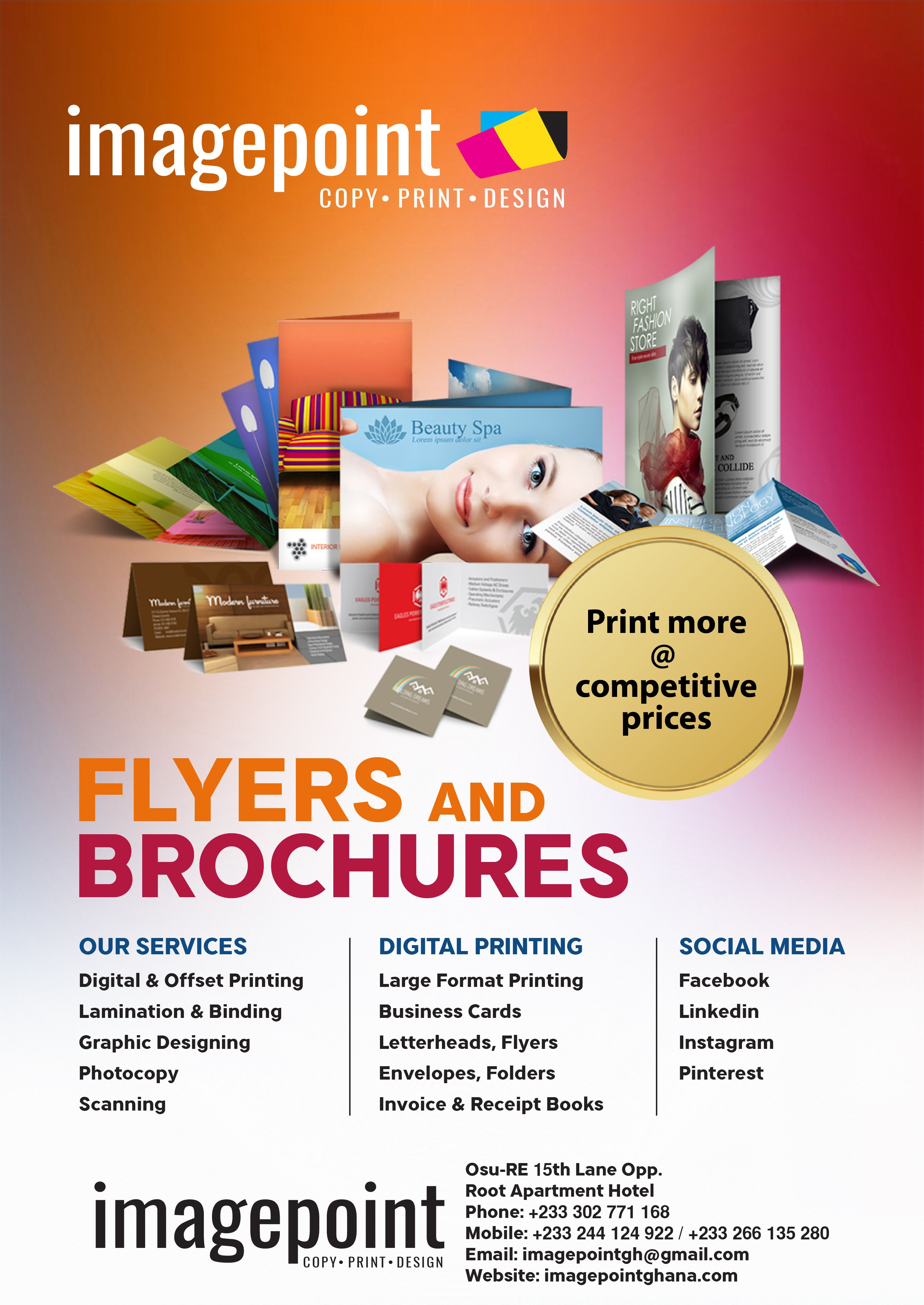 Digitalprint Flyers Folders Envelopes Invitationcards Brochures Letterheads Printing Food Poster Design Flyer Facebook Print