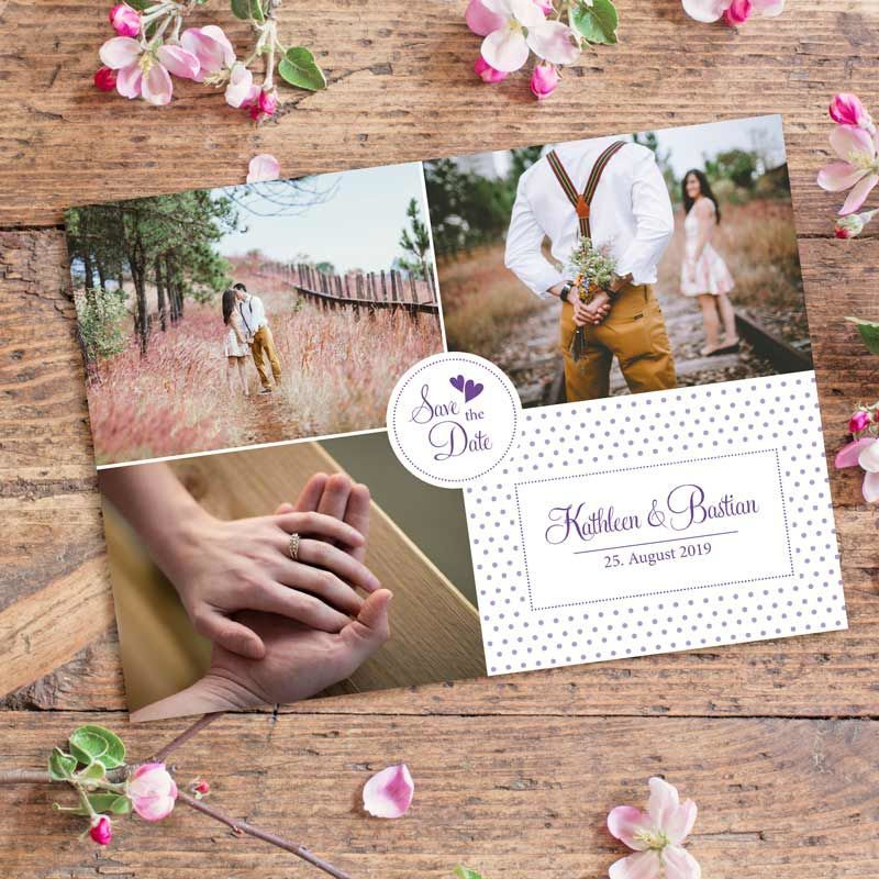 Save the Date Postkarte Feel mit Euren Fotos bestellen!
