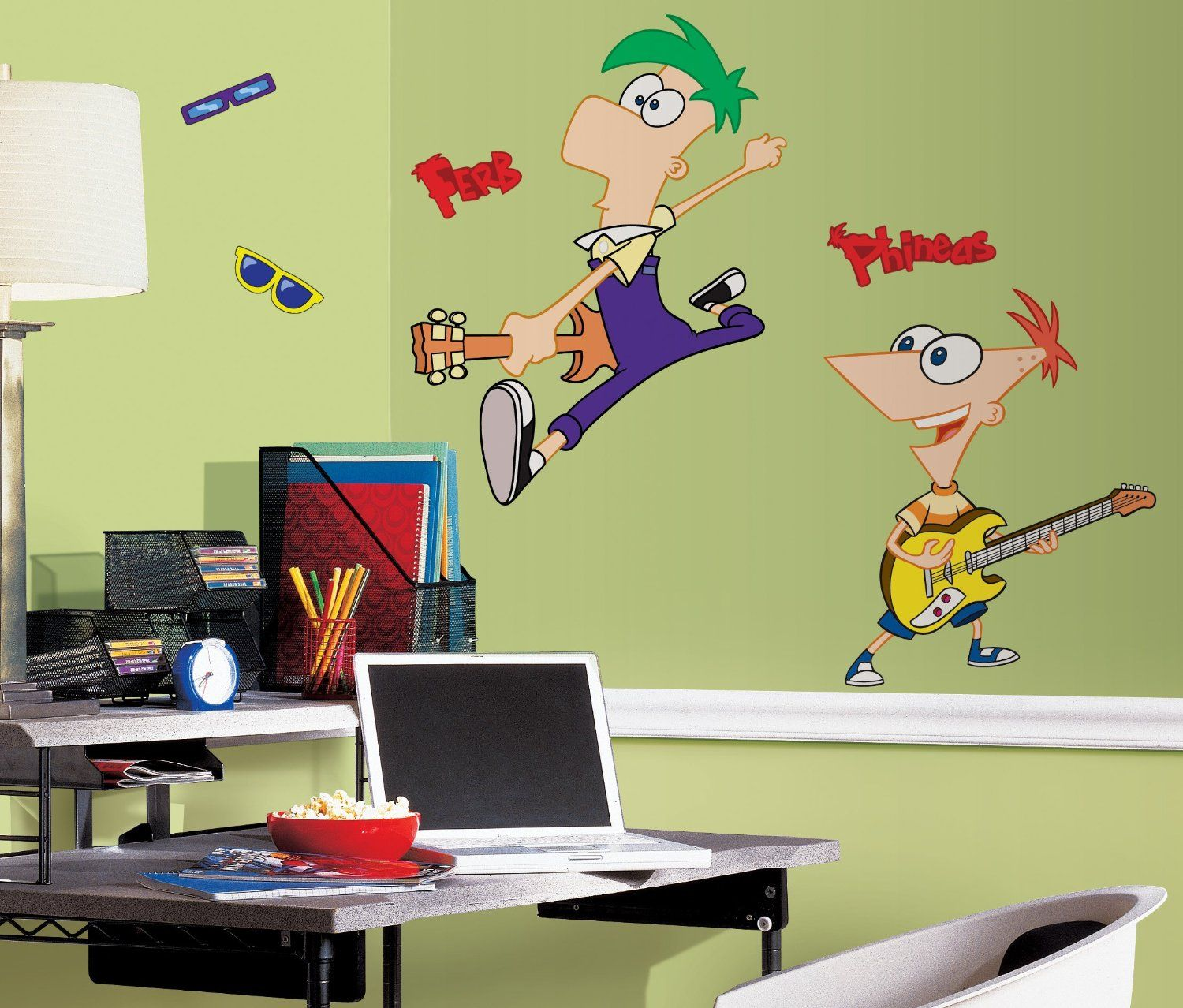 Phineas and Ferb Wall Decal | Bedroom Theme | Pinterest | Wall ...
