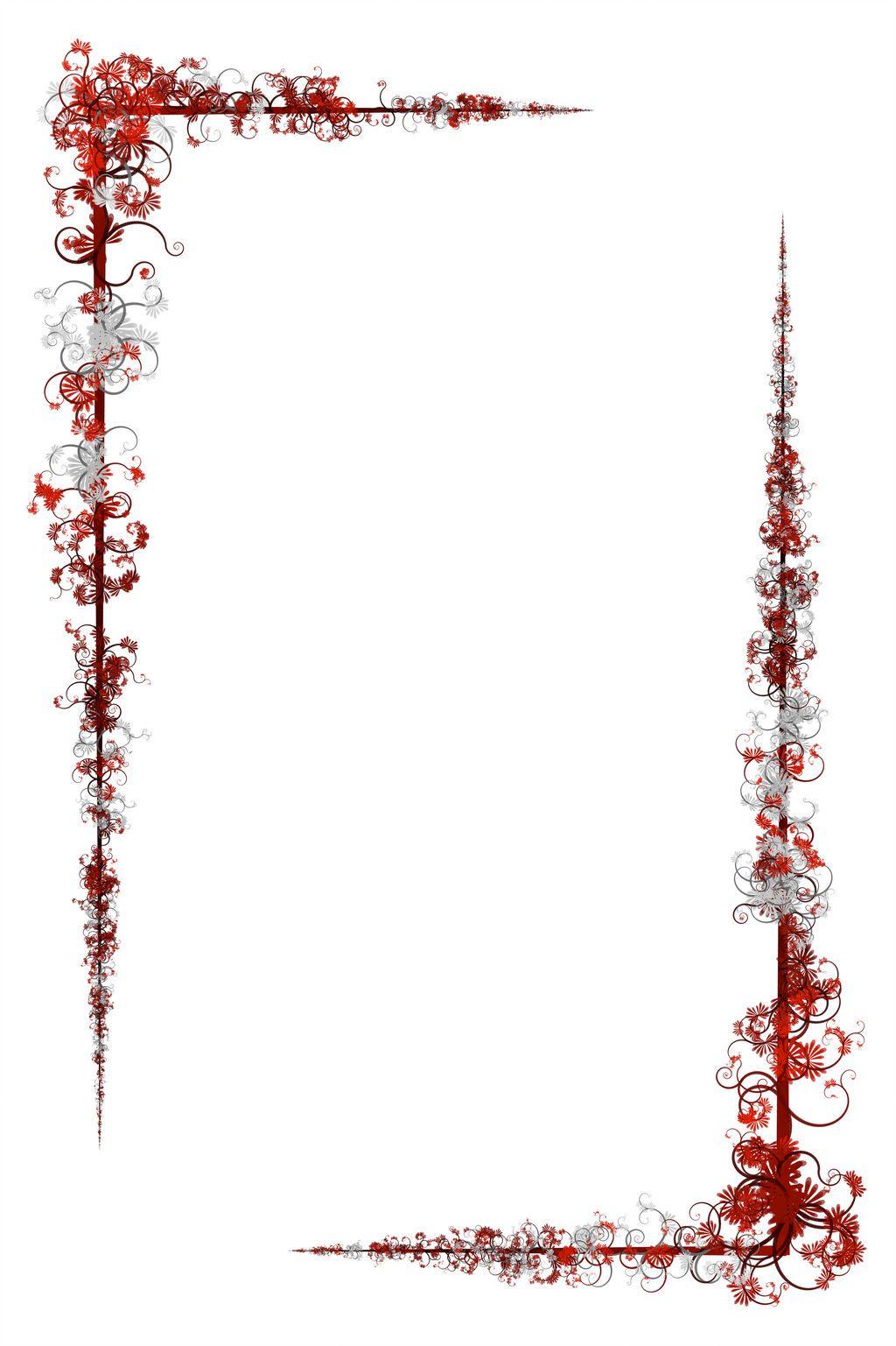 Floral border by lunarbunnies floral border design clip