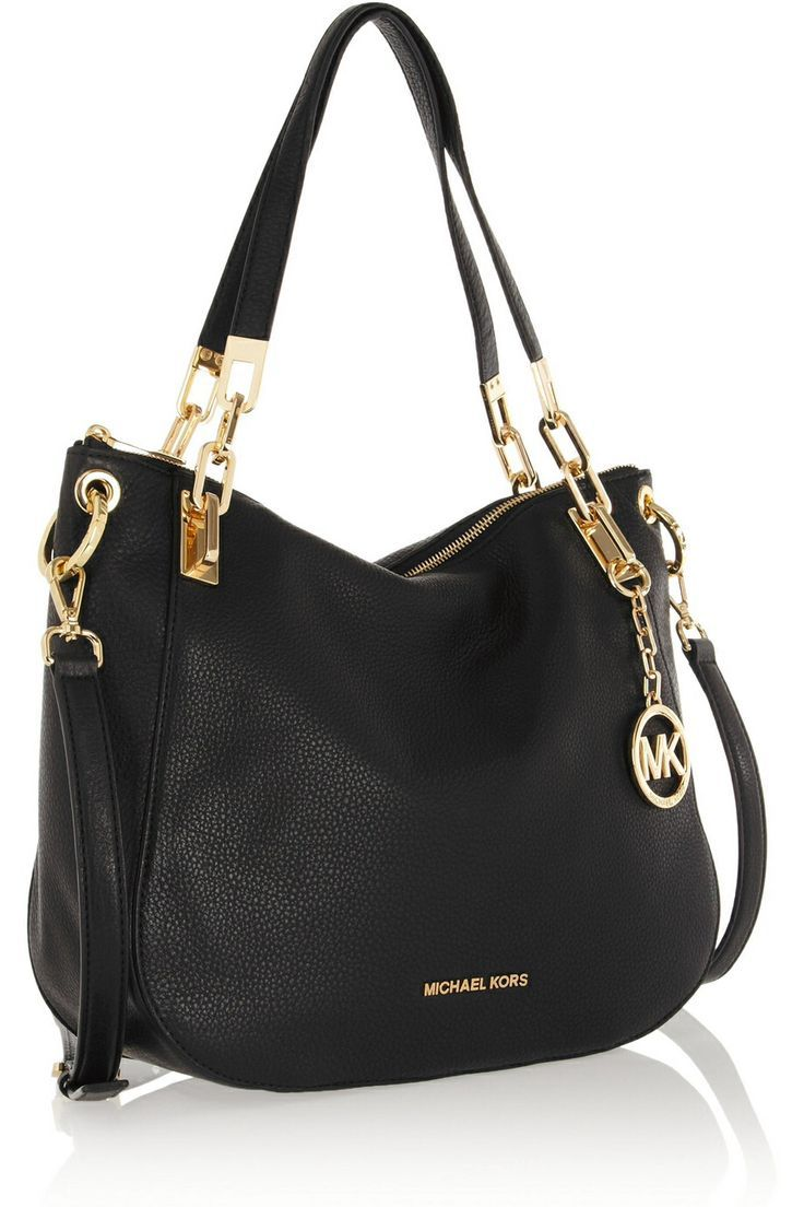 Women\u0027s Black Brooke Texturedleather Shoulder Bag. Michael Kors ...