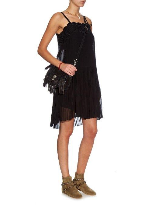 ISABEL MARANT boots and dress, Proenza Schouler bag