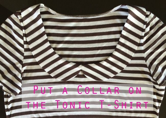 Christine Haynes\' collar tute for the Tonic Tee   Blouse Patterns ...