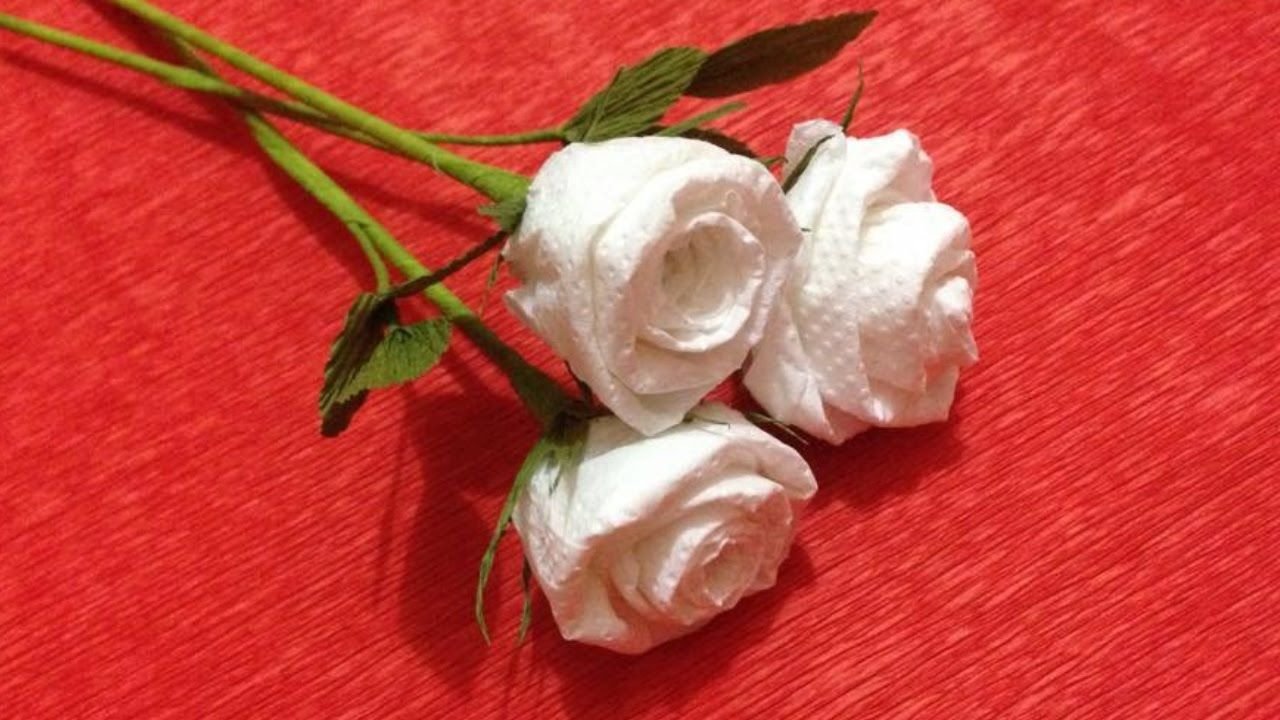 Pin By Tia Dowding On White Roses Pinterest Paper Flower