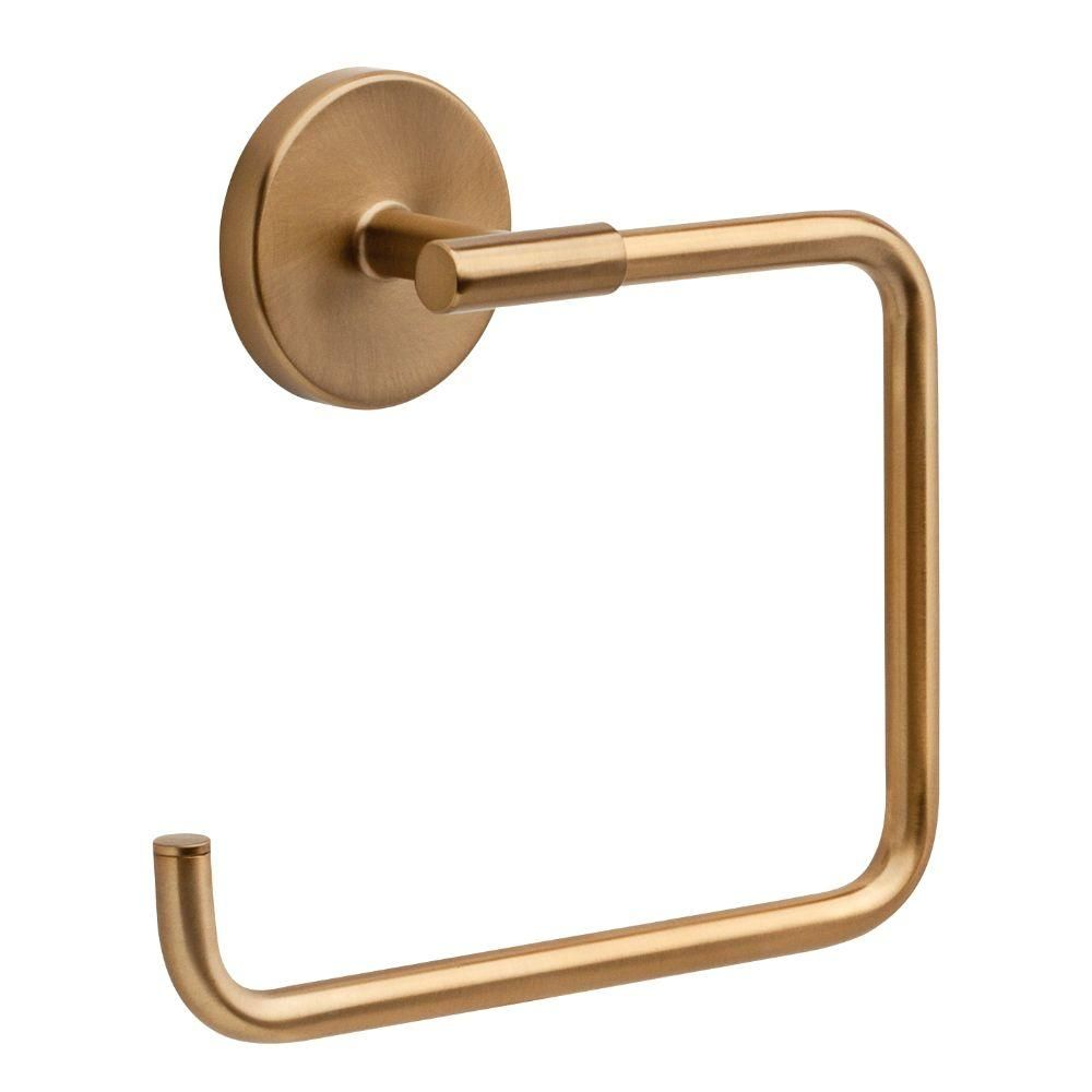 Delta Trinsic Open Towel Ring In Champagne Bronze 759460 Cz In 2020 Delta Trinsic Towel Rings Home Depot