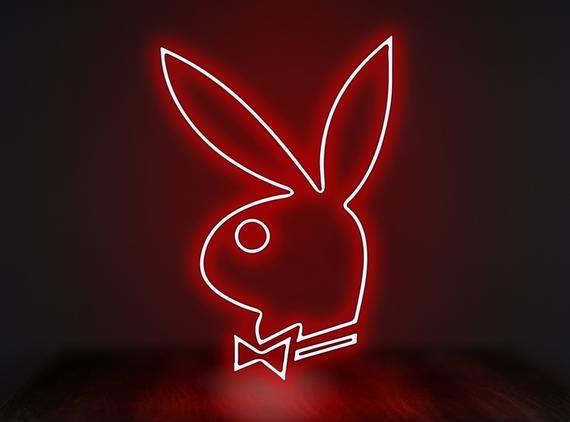 Neon sign bunny,Playboy bunny wall,Playboy bunny neon sign,Playboy bunny decor,Bunny wall decor,Neon light sign bedroom,Led neon sign