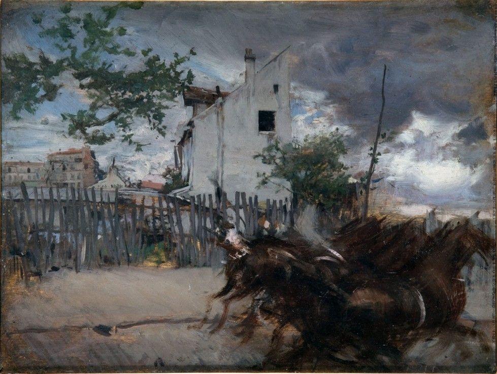 Giovanni Boldini. Paesaggio con cavalli, 1880 - 1890