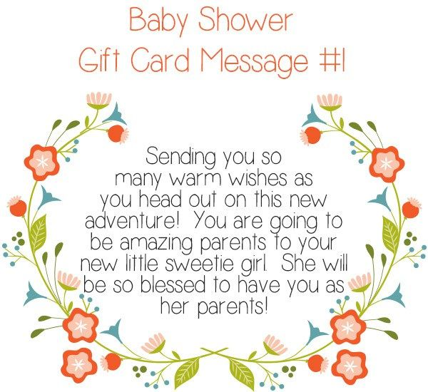 Top  Baby Shower Gift Card Message Ideas  Messages Babies And Gift