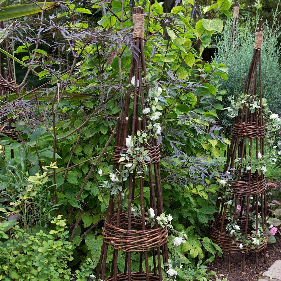 Willow obelisk 2 pack 1.5m Forest garden, Classic garden