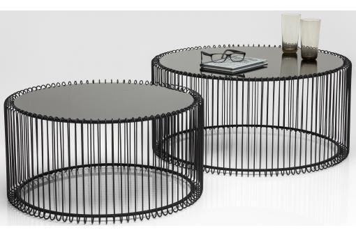 Set De 2 Tables Basses Wire Noire Table Basse Pas Cher Table Basse Table Basse Ronde Table Basse Moderne