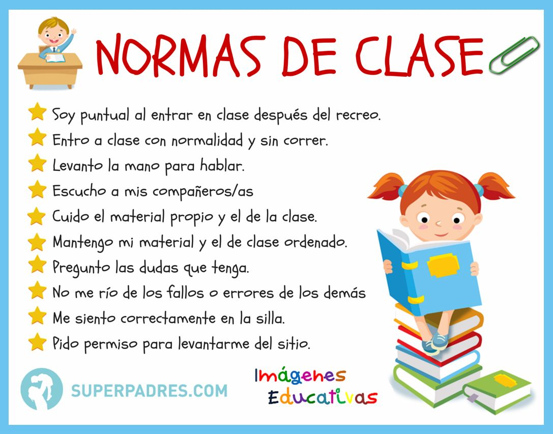 Normas De La Clase Jpg 1087 853 Normas De Clase Normas De La Clase Normas De Convivencia