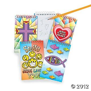 Religious Spiral Notepads - Oriental Trading