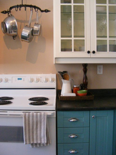 teal kitchen cabinets. The Complete Guide to Imperfect Homemaking  How Paint your Cabinets TEAL or some other colour I suppose decorating An Ounce of