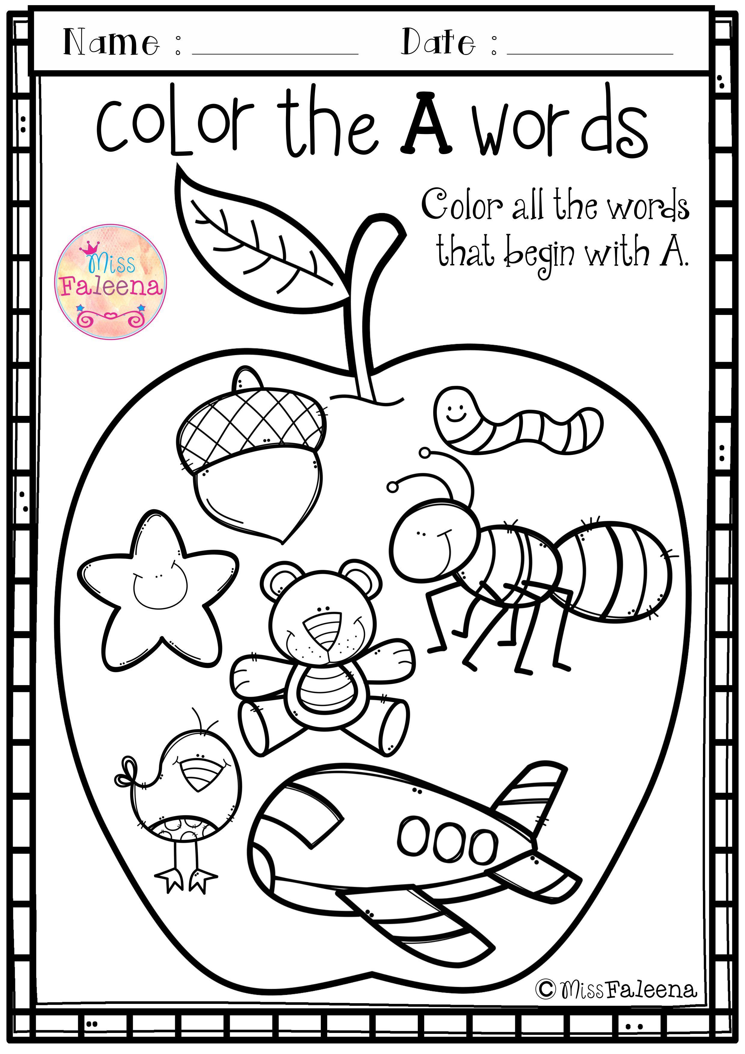 Free Alphabet Letter Of The Week A Alphabet Preschool First