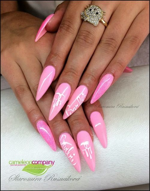 Barbie Stiletto Nails ❤ ❤️ - Barbie Stiletto Nails ❤ ❤ Nice Nail Designs Pinterest