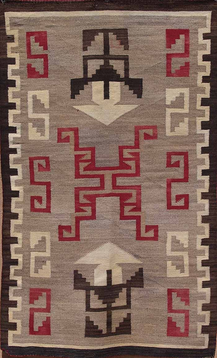 Early Storm Pattern Navajo Rug Native American Rugs