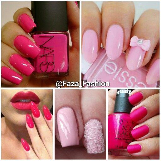 2015 Spring Summer Nail Trends Pink Nail Polish موضة موسم ربيع صيف ٢٠١٥ في ألوان المناكير اللون الوردي Nails Nail Polish Makeup Nails