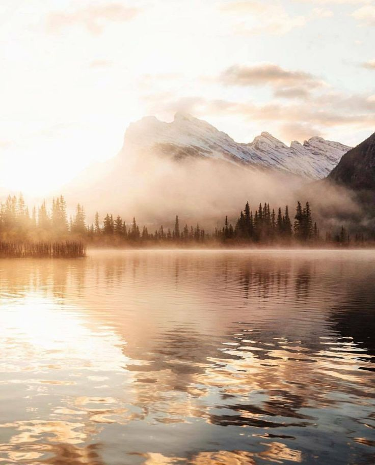 Early morning in Banff National Park Canada - #Banff #Canada #Early #morning #Na..., #banff ...