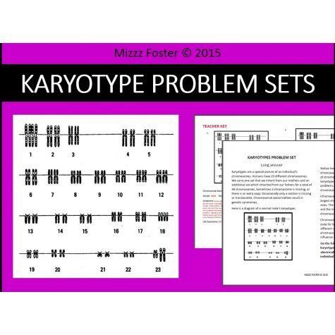 Genetic Disorders Mutations Karyotype Problem Sets Worksheets