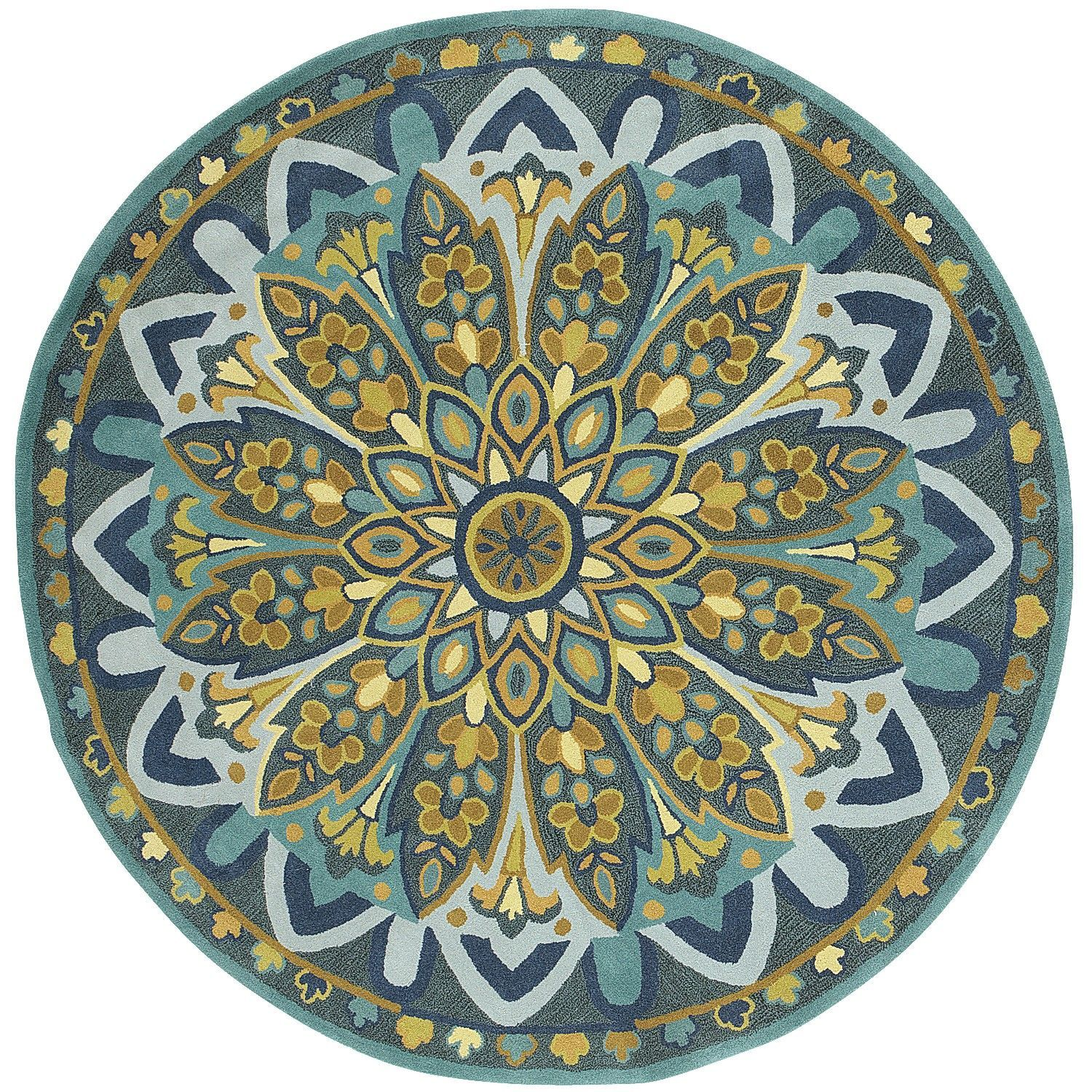 pier 1 living room rugs%0A Another more colorful round rug   Pier    Amla Floral Round Rug