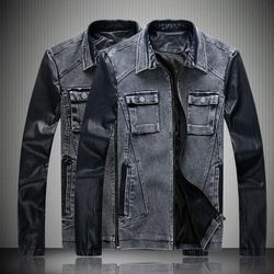 Online Shop Men's Jackets 2014 New Spring Winter Casual Thermal Mens Jeans Jacket Long Leather Sleeve For Men Denim Coats xxxl Size|Aliexpress Mobile