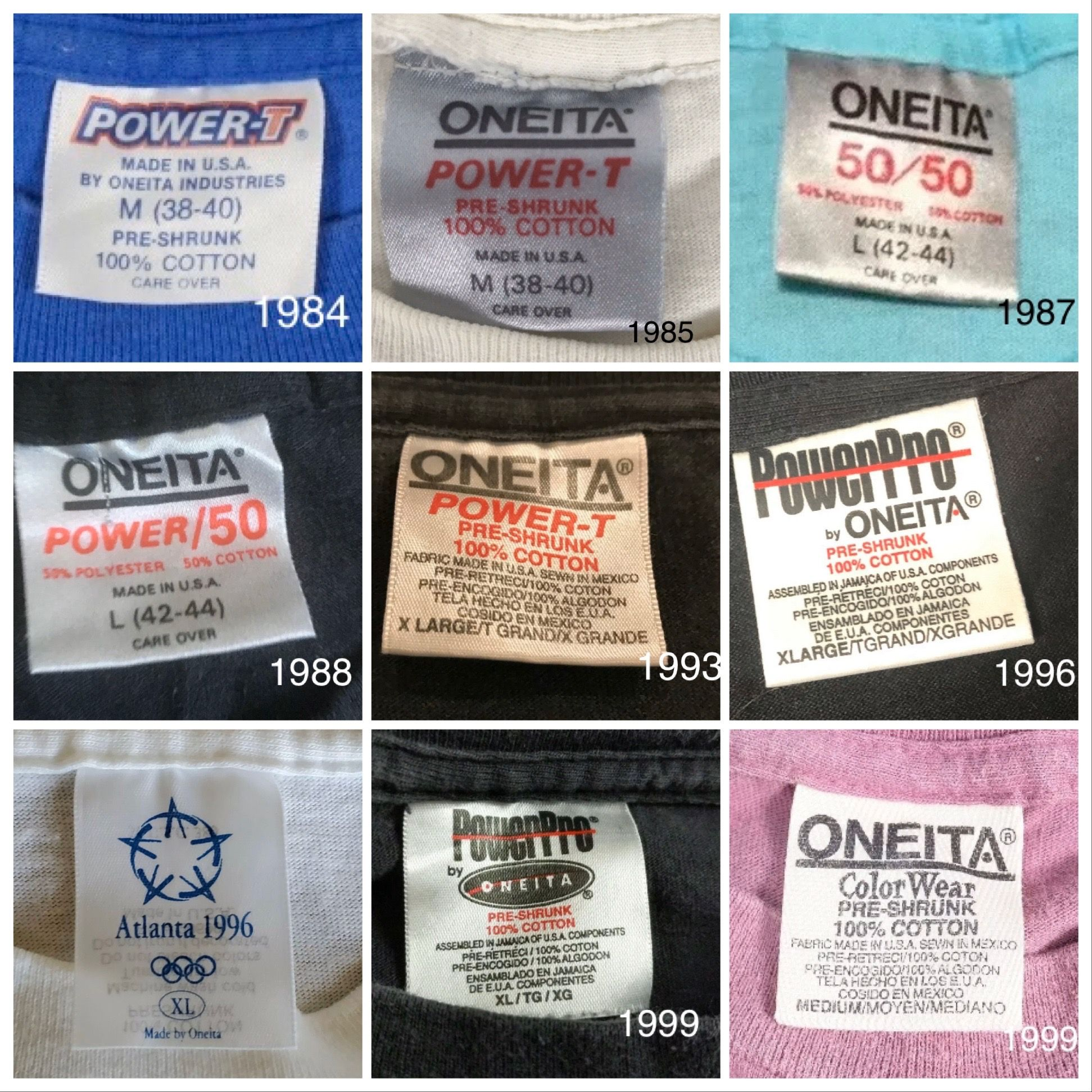 Vintage Oneita Fashion Tags Vintage Tags Vintage Branding Vintage Labels