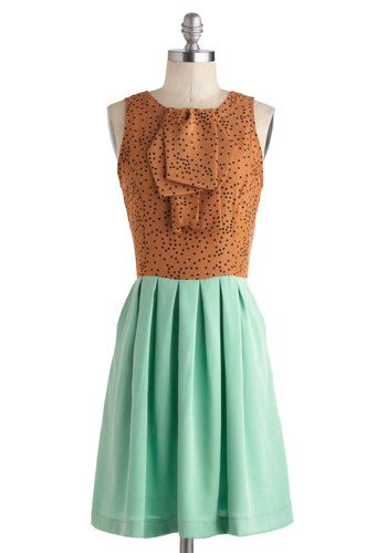 43f351074319 Feeling Mint Chocolate Chipper Dress. A sundae craves caramel drizzle just  as you simply require this double-scoop-of-cute dress by Dear Creatures for  your ...