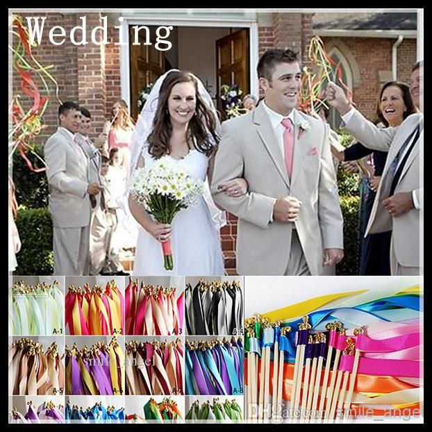 Whole Wedding Decorations Favors Ribbon Sticks Wish Wands With Bells Fairy Wand Magic Lawn Essentials For