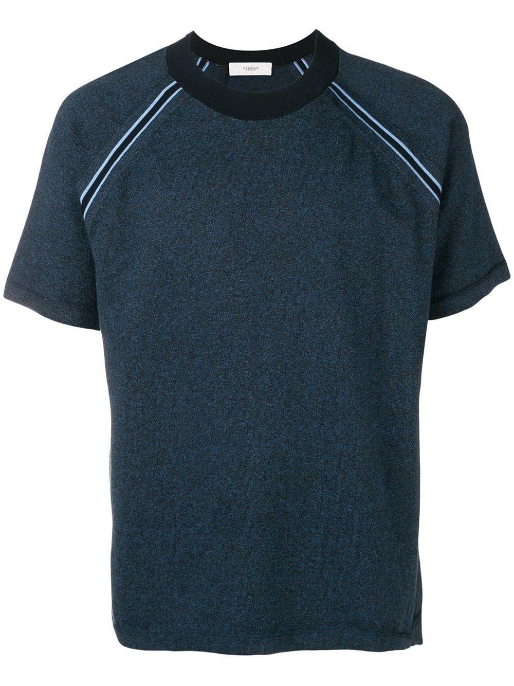 1a1037d4 PRINGLE OF SCOTLAND PRINGLE OF SCOTLAND MELANGE TRIM SHORT SLEEVE T-SHIRT -  BLUE. #pringleofscotland #cloth