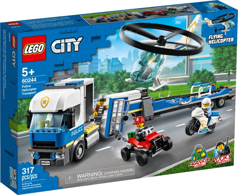 Lego City Police Helicopter Transport 60244 6288820 Best Buy In 2020 Lego City Lego City Police Lego City Police Sets