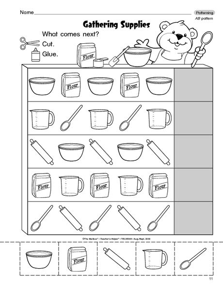 Math Worksheet Completing Ab Patterns The Mailbox Pattern Worksheet Ab Patterns Kindergarten Worksheets