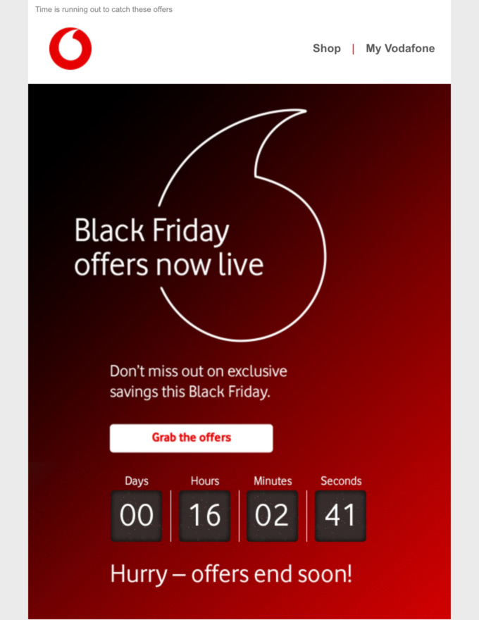 Black Friday Countdown Timer Email Black Friday Email Black Friday Email Marketing Campaign