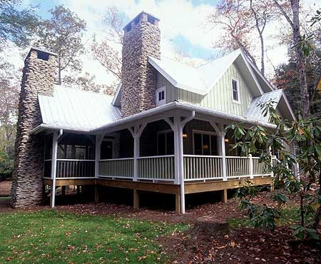 Plan W26613GG: Narrow Lot, Mountain, Country, Cottage, Vacation ...
