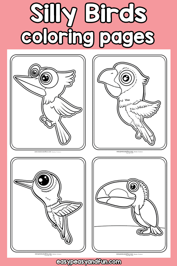 Silly Birds Coloring Pages Bird Coloring Pages Coloring Pages Coloring Pages For Kids