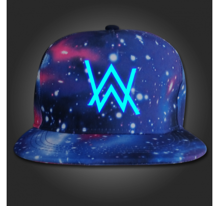 Alan walker fade logo cap hat snapback adjustable galaxy glow in the dark cap en 2019 alan - Alan walker logo galaxy ...