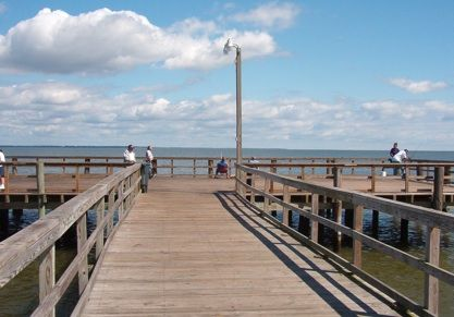 The Great Fishing Pier In Colonial Beach