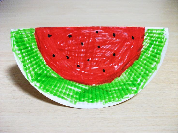 paper plate watermelon craft idea | Crafts and Worksheets for PreschoolToddler and Kindergarten : paper plate activity preschool - pezcame.com
