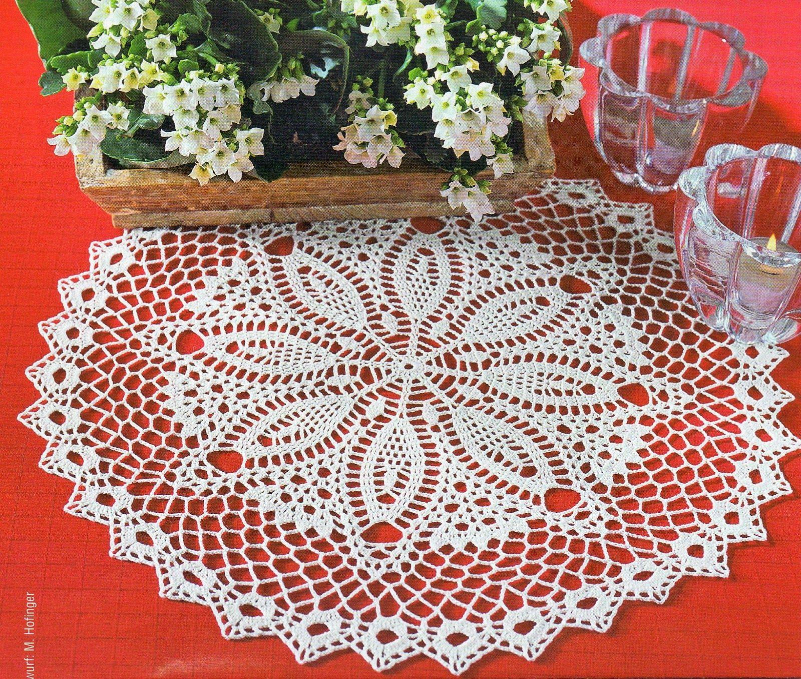 Naperon branco redondo patrones pinterest motivo de - Centros de mesa de ganchillo ...