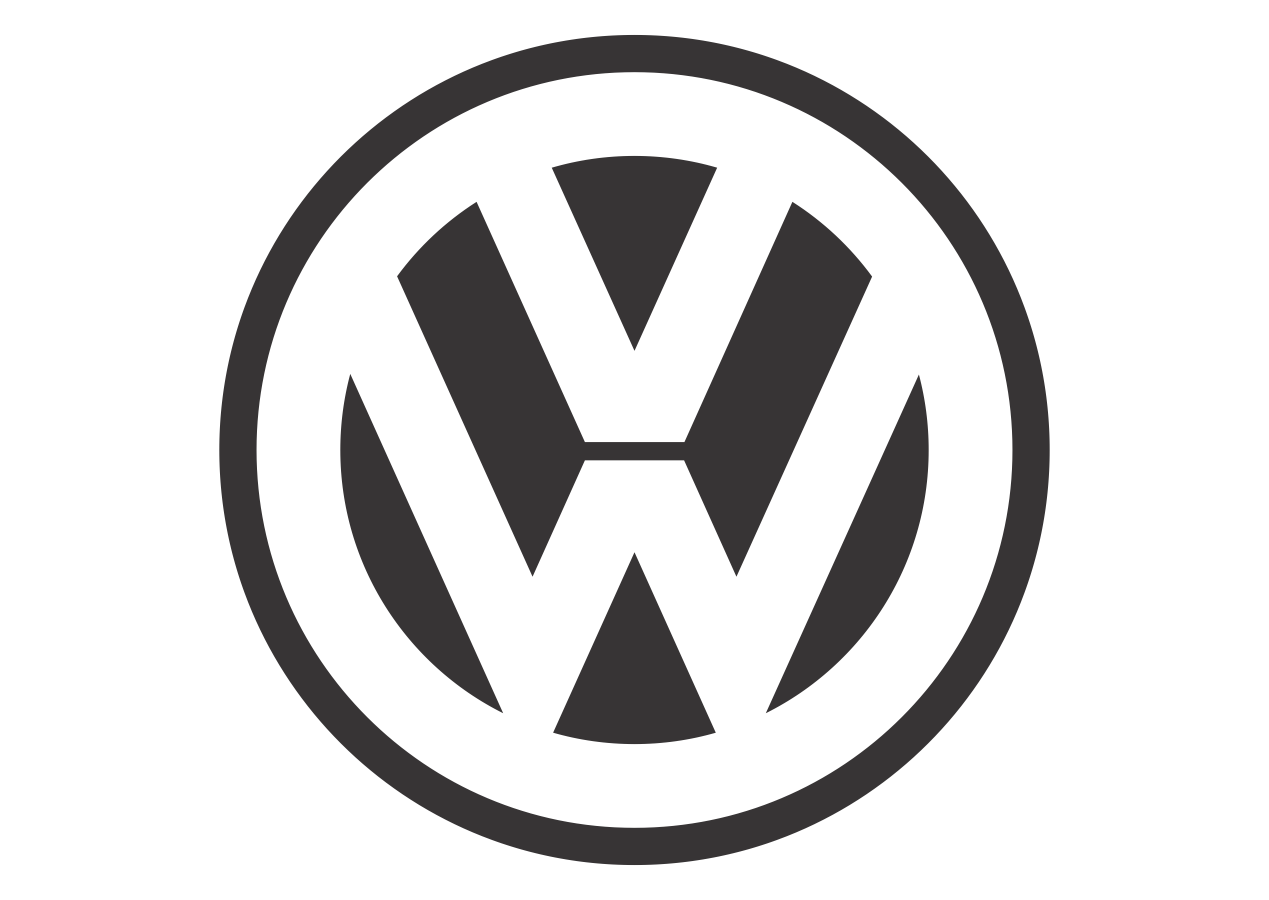 Volkswagen black white mode logo vector