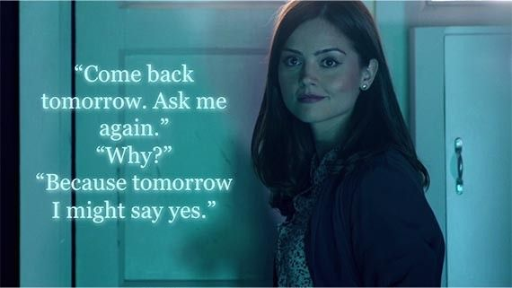 Image result for clara oswald ask me again tomorrow