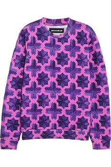df6166c7aff7 House of Holland Parquet printed cotton-jersey sweatshirt