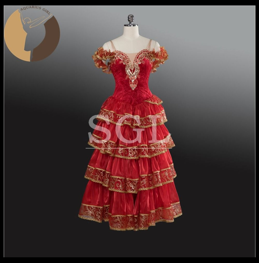 Click to buy ucuc new arrival spanish skirt girls red long skirts