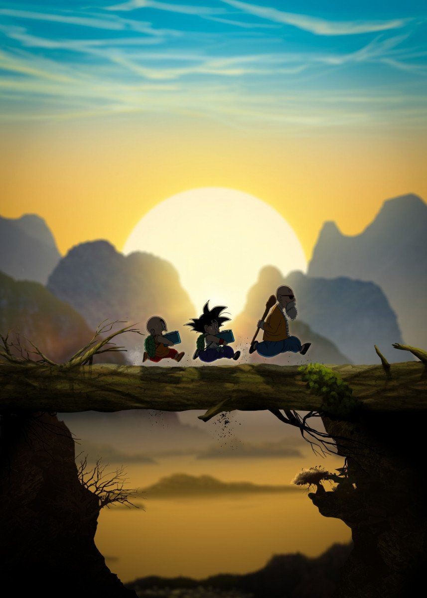 Dragon Ball Training Poster By Fadilr R Displate Dragon Ball Wallpaper Iphone Anime Dragon Ball Super Dragon Ball Wallpapers