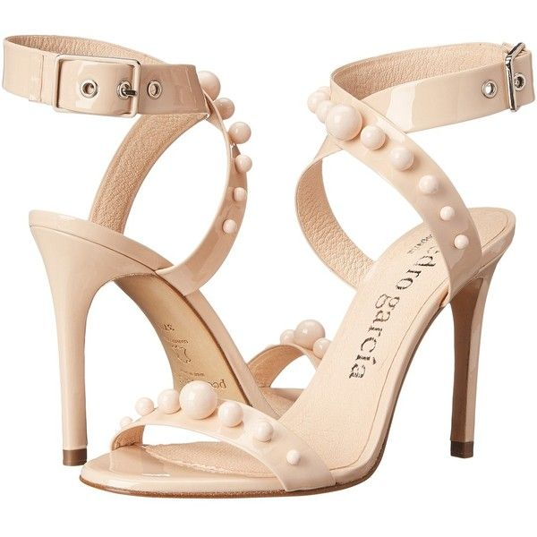 Pedro Garcia Courtney High Heels (2.180 BRL) ❤ liked on Polyvore featuring shoes, sandals, heels, neutral, leather strappy sandals, strappy high heel sandals, strap sandals, leather sandals y heels stilettos