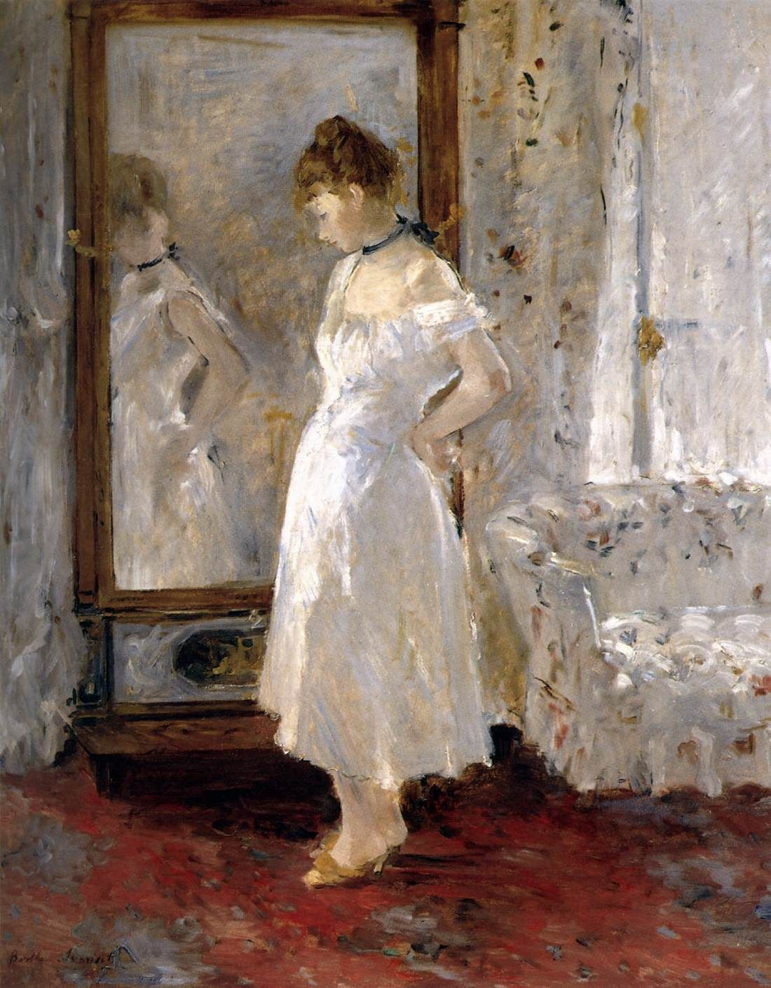Berthe Morisot, The Cheval-Glass, 1877-79, Oil on canvas, 65 x 54 cm, Museo Thyssen-Bornemisza, Madrid